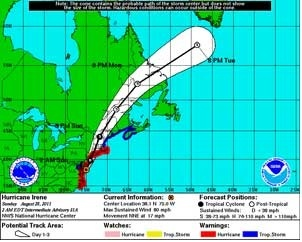 Sunday Update: Hurricane Irene heads toward second landfall