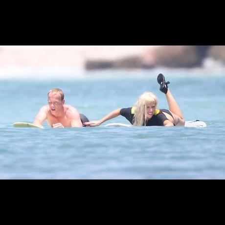 Lady Gaga Ripping The Surf In Mexico Wearing Tiny Bikini