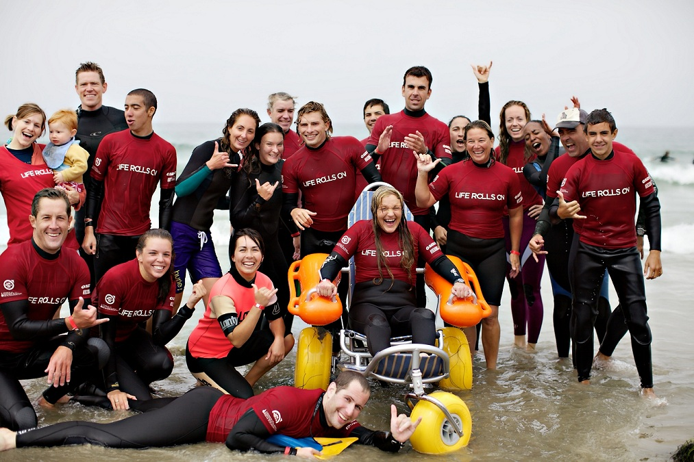 Life Rolls On: Spinal cord injuries won't stop these surfers from riding the waves in La Jolla on Saturday