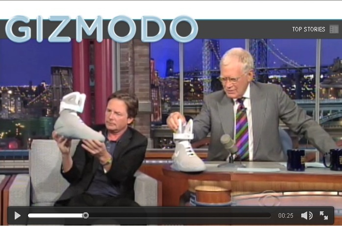 VIDEO: Watch Michael J. Fox Show Off the Nike Air Mag on Letterman