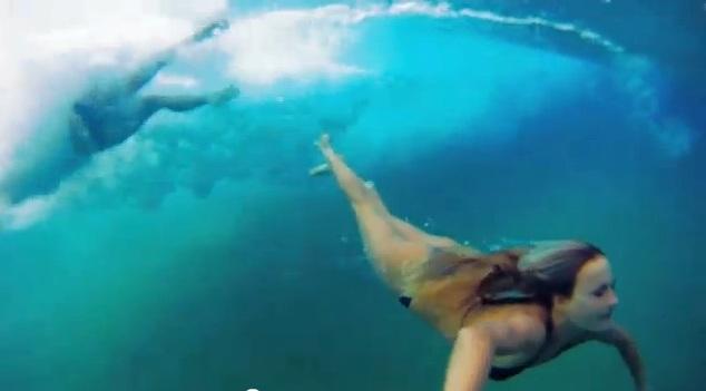 VIDEO: Bethany Hamilton & Alana Blanchard play in the Ocean