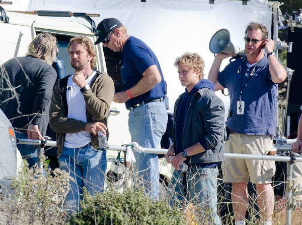 Of Men and Mavericks Films in San Gregorio – Movie about Mavericks surfer Jay Moriarity filmed south of Half Moon Bay on Tuesday and Wednesday.