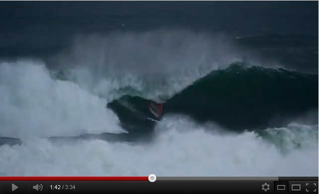 Surfer Andrew Cotton Rides a 50 Foot Wave Off Mullaghmore, Ireland (Video)