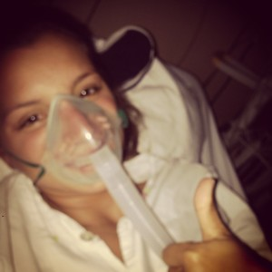 Maya recovering at hospital