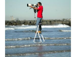 Tom Cozad, local surf photographer by Christopher Wagner