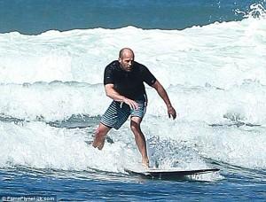 Jason Statham Surfing 7