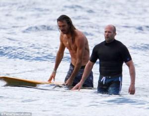 Jason Statham Surfing 8