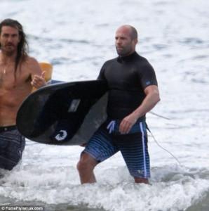 Jason Statham Surfing 9