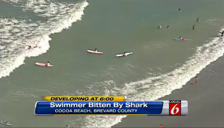Shark attack Cocoa Beach