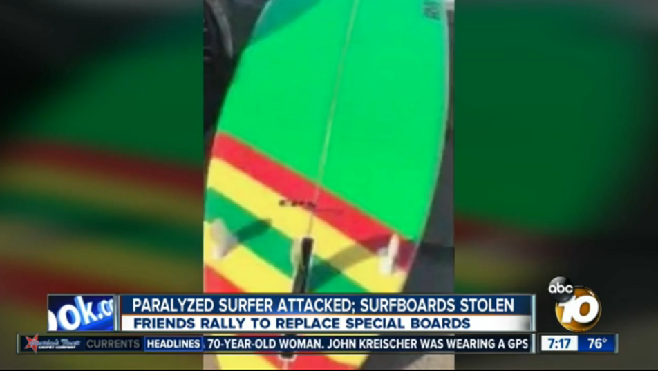 Stolen surfboard